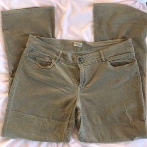 Gap • super soft khaki corduroy pants